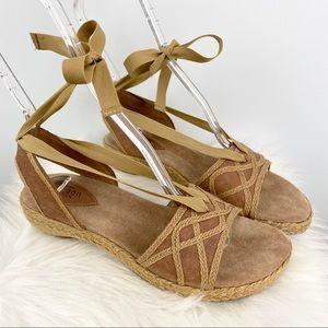Clarks Artisan Collection Espadrille Sandals Sz 8
